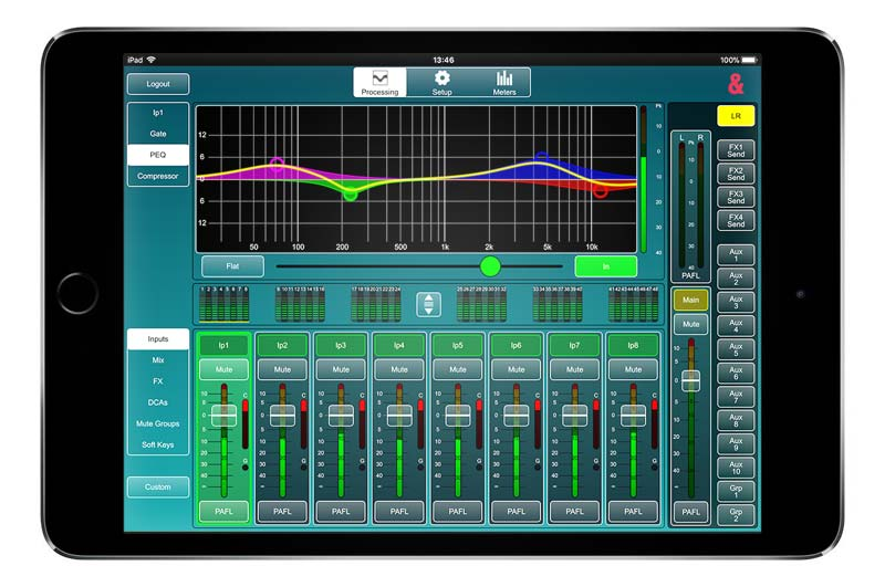 mixing sound on an iPad